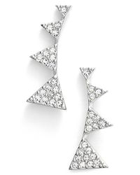 Nadri | Metallic Triangle Stud Earrings | Lyst