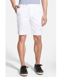 Fairway & Greene - White Flat Front Seersucker Shorts for Men - Lyst