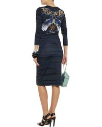 Preen By Thornton Bregazzi - Blue Avery Printed Stretch-Jersey Dress - Lyst
