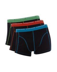 Björn Borg - Black 3 Pack Contrast Stitch Underwear Trunk for Men - Lyst
