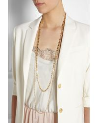 Iam By Ileana Makri - Metallic Trianon Set Of Two Goldplated Necklaces - Lyst