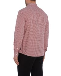 Armani Jeans | Red Regular Fit Pocket Logo Gingham Shirt for Men | Lyst