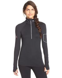 Under Armour | Black 'fly Fast' Half Zip Long Sleeve Top | Lyst