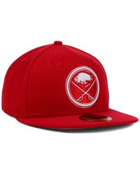 KTZ | Red Buffalo Sabres C-dub 59fifty Cap for Men | Lyst