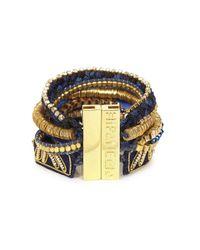 Hipanema | Blue Sapphire Embellished Cuff | Lyst
