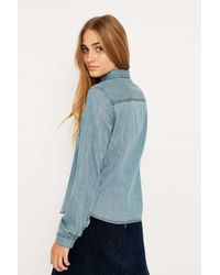 16be09cd Bdg Katie Tencel Button-down Shirt in Blue - Lyst
