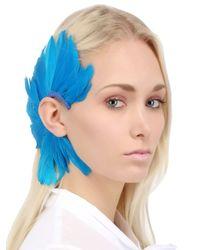 Francesco Ballestrazzi - Blue Feather Mono Ear Cuff - Lyst