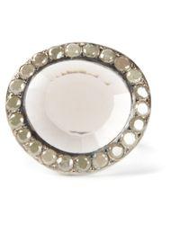 Rosa Maria   Metallic 'Fidji' Diamond Quartz Ring   Lyst