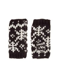 Pepe Jeans - Black Aztec Mittens - Lyst