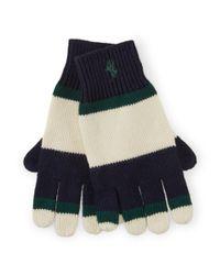 Ralph Lauren | Blue Striped Cotton Gloves | Lyst