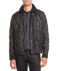 John Varvatos | Black Lightweight Quilted Jacket for Men | Lyst