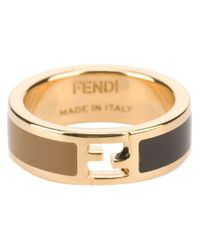 Fendi | Metallic Enamel Coated Ring | Lyst