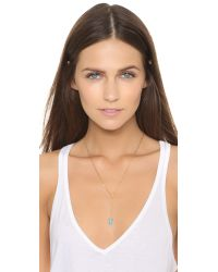 Tai - Metallic Lariat Necklace - Turquoise/gold - Lyst