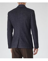 Reiss - Blue Cassius Patch Pocket Blazer for Men - Lyst