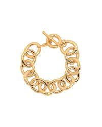 Lauren by Ralph Lauren - Metallic Rolo Link Bracelet - Lyst