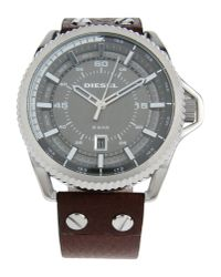 DIESEL - Gray Wrist Watch for Men - Lyst