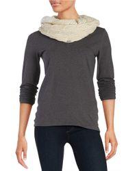 Calvin Klein | Natural Metallic Knit Infiniti Scarf | Lyst