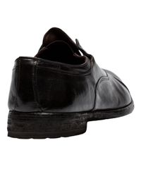 Officine Creative - Brown Laceless Cap Toe Oxford for Men - Lyst