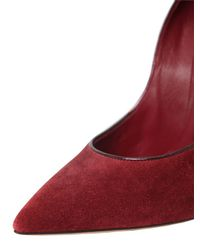 Casadei - Purple 120mm Blade Suede & Patent Leather Pumps - Lyst