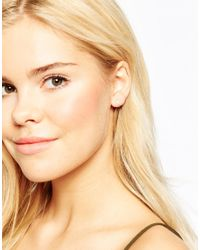 Estella Bartlett | Metallic Silver Plated Mini Lovebird Earrings | Lyst