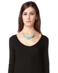 Pieces - Blue Necklace / Longcollar - Lyst