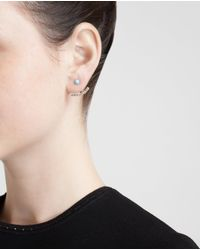 Yvonne Léon | 18k Yellow Gold & Diamond Lobe Earring | Lyst