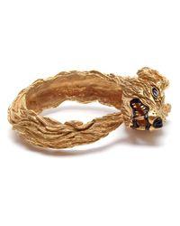 Duffy | Metallic Handmade Gold Plated Wolf Cuff | Lyst