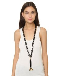 Maiyet | Large Fish Necklace - Black/gold | Lyst