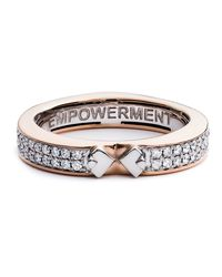 Diamonds Unleashed - Pink #she'sbrilliant Empowerment 18k Rose Gold Diamond Ring - Lyst
