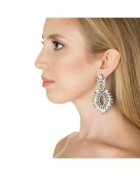 Elizabeth Cole | Metallic Cascading Navette Earrings | Lyst