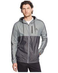 Adidas Originals | Gray Full-zip Windbreaker Jacket for Men | Lyst