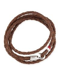Miansai - Brown Braided Sterling Silver Trice Bracelet for Men - Lyst