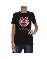 Love Moschino - Black T-shirt - Lyst