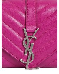Saint Laurent - Purple Monogram Baby Quilted Leather Bag - Lyst