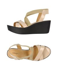 Zamagni - Natural Sandals - Lyst