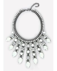 Bebe - Blue Opal Stone Bib Necklace - Lyst