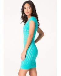 Bebe | Blue Tribeca Lace Dress | Lyst