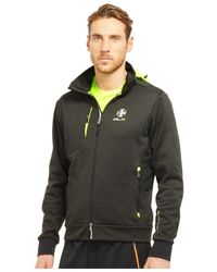 "Polo Ralph Lauren | Black Polo Sport ""rlx"" Performance Jersey Track Jacket for Men 