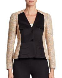 M Missoni | Pink Tweed Panel Jacket | Lyst