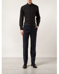 Lanvin - Black Classic Shirt for Men - Lyst