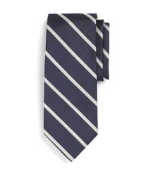 Brooks Brothers | Black Bb#3 Repp Tie for Men | Lyst