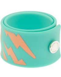 Marc By Marc Jacobs | Green Turquoise Lightning Slap Bracelet | Lyst