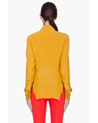Thakoon Addition - Yellow Ruffled Silk Blouse - Lyst