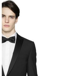 Z Zegna - Black Silk Satin Bow Tie for Men - Lyst