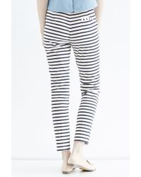 Oasis | Multicolor Stripe Cotton Trousers | Lyst