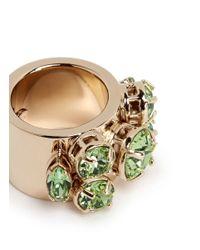 Valentino | Green Rhinestone Ring | Lyst