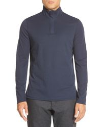Vince Camuto - Blue Mock Neck Quarter Zip Pullover for Men - Lyst