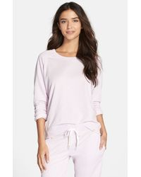 Honeydew Intimates | Pink Burnout French Terry Sweatshirt | Lyst