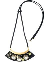 Marni   Black Embellished Necklace   Lyst