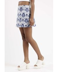 TOPSHOP - Blue Annie Skirt By Motel - Lyst